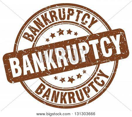 bankruptcy brown grunge round vintage rubber stamp.bankruptcy stamp.bankruptcy round stamp.bankruptcy grunge stamp.bankruptcy.bankruptcy vintage stamp.