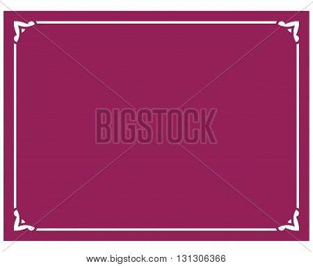 Beautiful crimson red vector vintage border frame