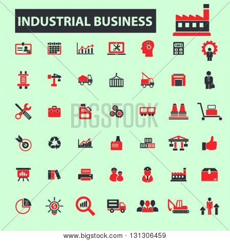 industrial business icons