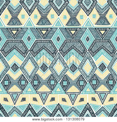 Seamless Geometric Pattern. Embroidery Motifs. Handmade. Vector.