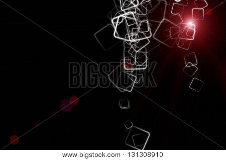 Abstract Powerful Square Background Design With Light