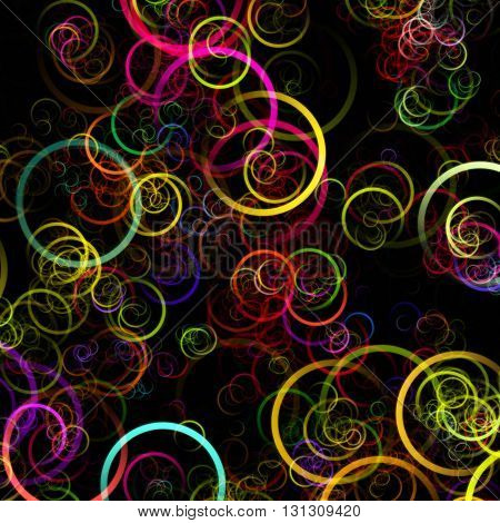 Fantastic elegant colorful circle background design illustration