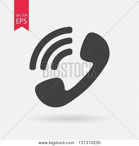 Phone Icon Vector. Phone sign isolated on white background. Phone silhouette. Vector Flat design