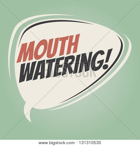 mouthwatering retro speech balloon