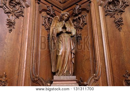 PLETERJE, SLOVENIA - NOVEMBER 06: Angel, Carthusian monastery in Pleterje, Slovenia on November 06, 2015.
