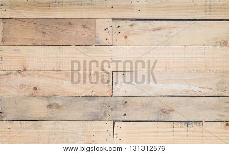 Closeup surface wood board at the wall texture background