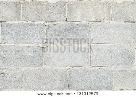 Closeup surface old cement brick wall texture background
