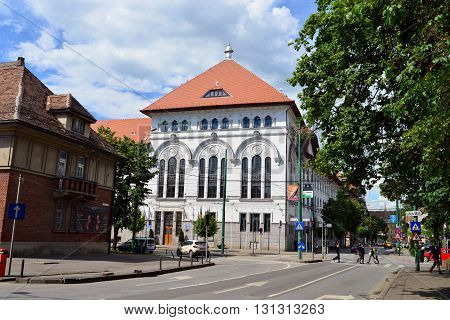 TIMISOARA ROMANIA - 05.13.2016: city hall building landmark architecture