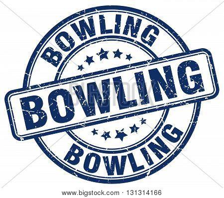 bowling blue grunge round vintage rubber stamp.bowling stamp.bowling round stamp.bowling grunge stamp.bowling.bowling vintage stamp.
