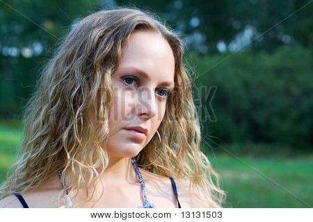 Sad Beautiful Woman.