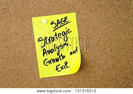 Business Acronym Sage Strategic, Analysis, Growth And Exit