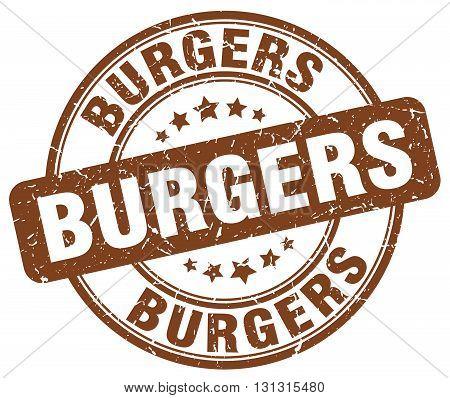 burgers brown grunge round vintage rubber stamp.burgers stamp.burgers round stamp.burgers grunge stamp.burgers.burgers vintage stamp.