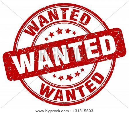 Wanted Red Grunge Round Vintage Rubber Stamp.wanted Stamp.wanted Round Stamp.wanted Grunge Stamp.wan