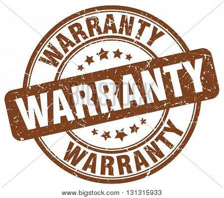 Warranty Brown Grunge Round Vintage Rubber Stamp.warranty Stamp.warranty Round Stamp.warranty Grunge