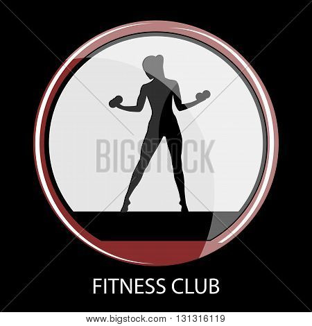 icon fitness club sport style vector illustration
