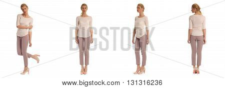 Full Length Portrait Of Beautiful Teen In Breeches