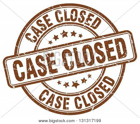 case closed brown grunge round vintage rubber stamp.case closed stamp.case closed round stamp.case closed grunge stamp.case closed.case closed vintage stamp.