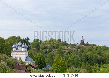 Orthodox Church in the historical part of the city Yuryevets