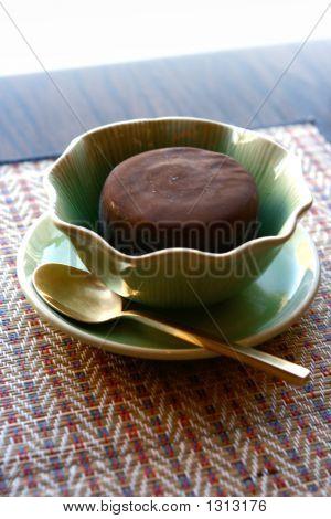 Minze Icecream In orientalischen Schüssel