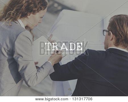 Trade Business Finance Money Market Concept