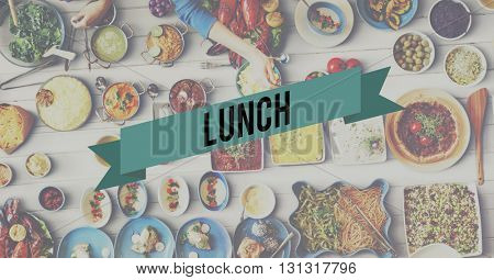 Lunch Food Eating Party Celebration Concept