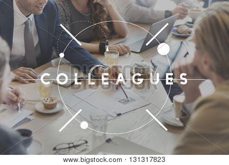 Colleagues Team Coworker Business Concept
