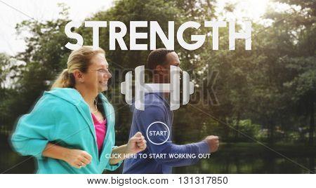 Strength Health Life Mental Nutrition Vitality Concept
