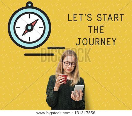 Let Start Journey Travel People Concept