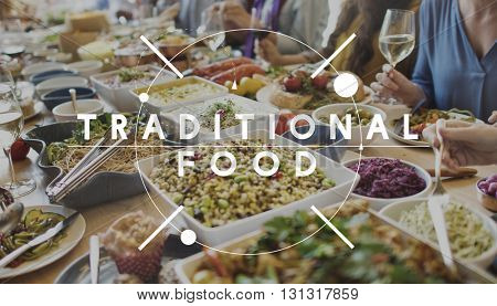Traditional Food Eating Nourishment Nutrition Concept