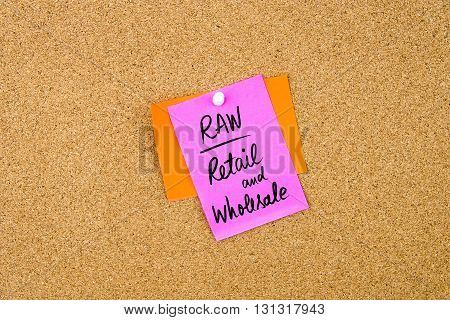 Business Acronym Raw As Retail And Wholesale