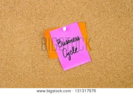 Business Cycle Written On Paper Note