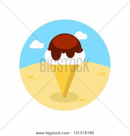 Ice Cream vector icon. Beach. Summer. Summertime. Vacation eps 10