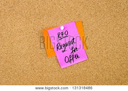 Business Acronym Rfo As Request For Offer