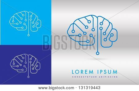 BRAIN INCORPORATED WITH DIGITAL CIRCUIT , LOGO / ICON