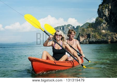 Kayak Activity Leisure Exercise Tourisim Vacation Concept