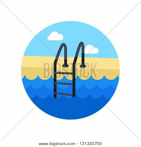 Swimming pool vector icon. Beach. Summer. Summertime. Vacation eps 10