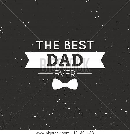 abstrac father day label on a special background