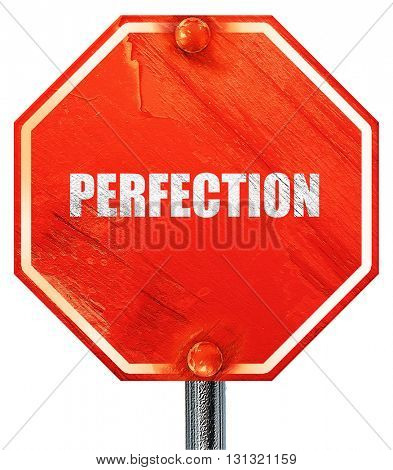 perfection, 3D rendering, a red stop sign
