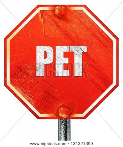 pet, 3D rendering, a red stop sign