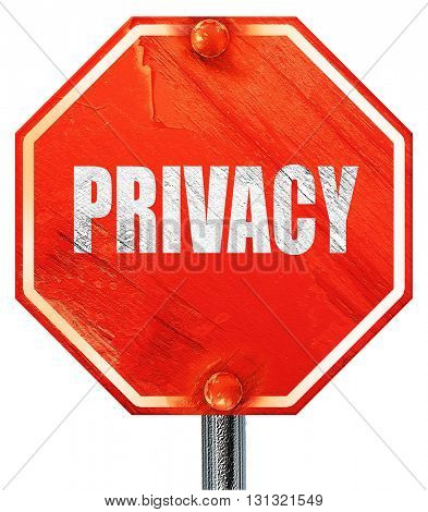 privacy, 3D rendering, a red stop sign
