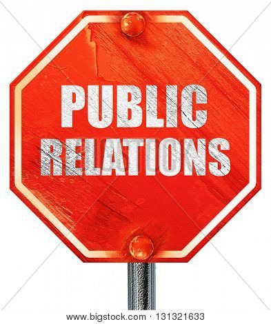 public relations, 3D rendering, a red stop sign