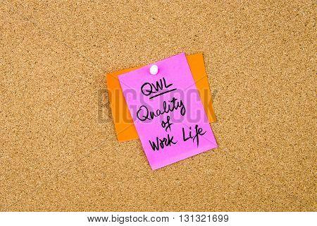 Business Acronym Qwl Quality Of Work Life