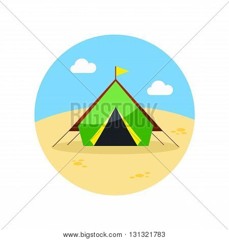 Tent vector icon. Beach. Summer. Summertime. Vacation eps 10