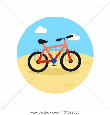 Bicycle vector icon. Beach. Summer. Summertime. Vacation eps 10