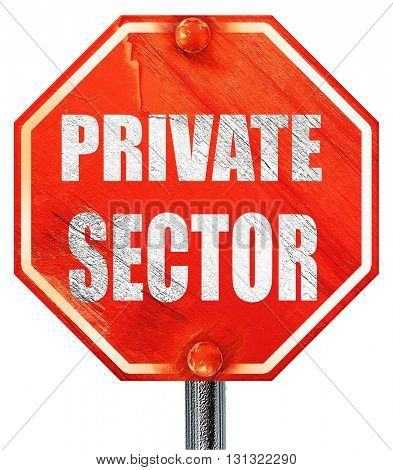private sector, 3D rendering, a red stop sign
