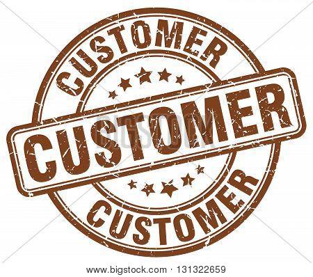 customer brown grunge round vintage rubber stamp.customer stamp.customer round stamp.customer grunge stamp.customer.customer vintage stamp.
