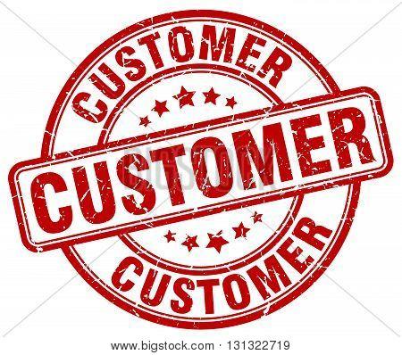 customer red grunge round vintage rubber stamp.customer stamp.customer round stamp.customer grunge stamp.customer.customer vintage stamp.