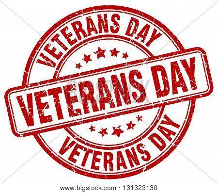 Veterans Day Red Grunge Round Vintage Rubber Stamp.veterans Day Stamp.veterans Day Round Stamp.veter