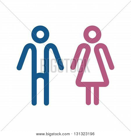 WC icons isolated on a white background. Washroom icon. Restroom sign. Gender icon. Male and female sign collection. Gender symbols. Man and woman icon