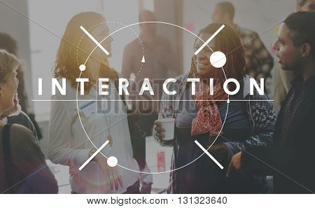 Interaction Colleagues Communication Interact Concept